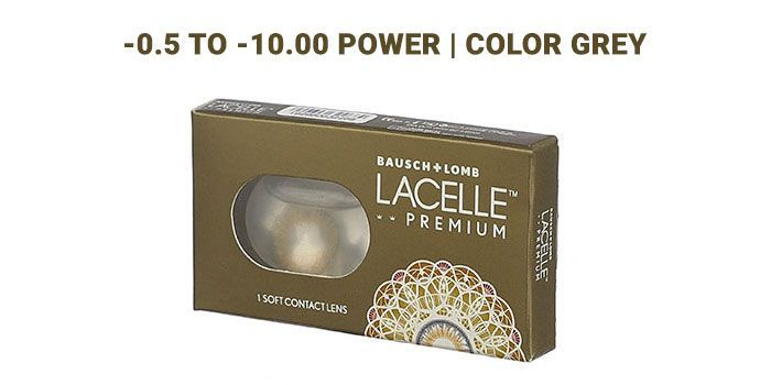 Lacelle Premium Grey Spherical Monthly By Bausch and Lomb(Pack Of 1)