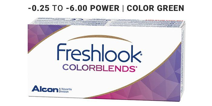 FreshLook ColorBlends Green(2 Lens per Box) Monthly Disposable