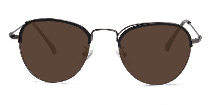NERDLANE by EyeMyEye E12A1431 Matte Black Full Frame Clubmaster Color Blind Glasses