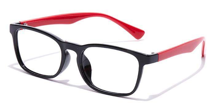 NERDLANE by EyeMyEye E12A1576 Glossy Black Full Frame Rectangle Computer Glasses for Men and Women