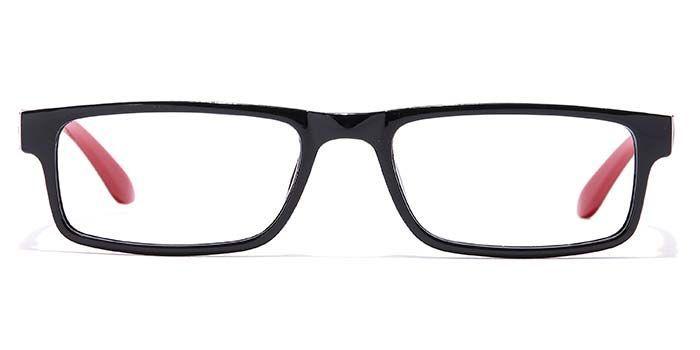 NERDLANE by EyeMyEye E12B0807 Glossy Black Full Frame Rectangle Eyeglasses for Men and Women