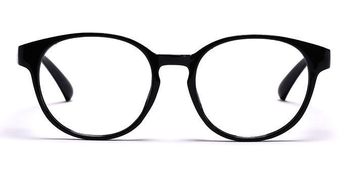NERDLANE by EyeMyEye E12B1351 Black Full Frame Round Eyeglasses for Men and Women