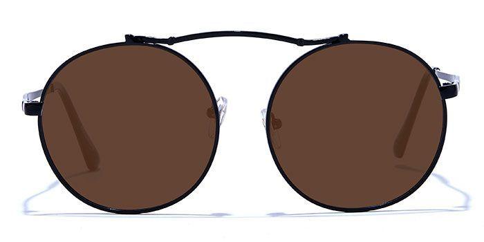 NERDLANE by EyeMyEye E12B1437 Glossy Black Full Frame Round Color Blind Glasses