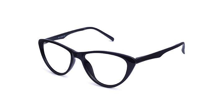 IZIBUKO by EyeMyEye E12B2447 Black Full Frame Cateye Eyeglasses for Women