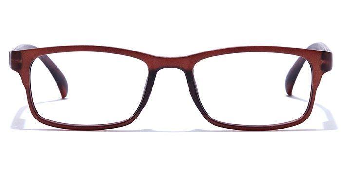 NERDLANE by EyeMyEye E12C0305 Matte Brown Full Frame Rectangle Eyeglasses for Men and Women