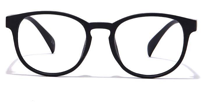 NERDLANE by EyeMyEye E12C0630 Matte Black Full Frame Round Eyeglasses for Men and Women