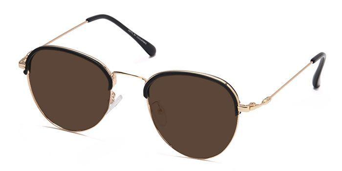 NERDLANE by EyeMyEye E12C1429 Matte Black Full Frame Clubmaster Color Blind Glasses