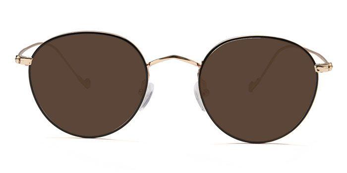 NERDLANE by EyeMyEye E12C1434 Glossy Black Full Frame Round Color Blind Glasses