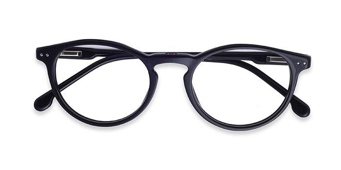 CARRERA Black Full Frame Round Eyeglasses for Men