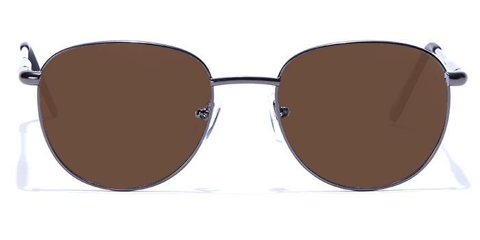 NERDLANE by EyeMyEye E13B2219 Matte Gunmetal Full Frame Round Color Blind Glasses