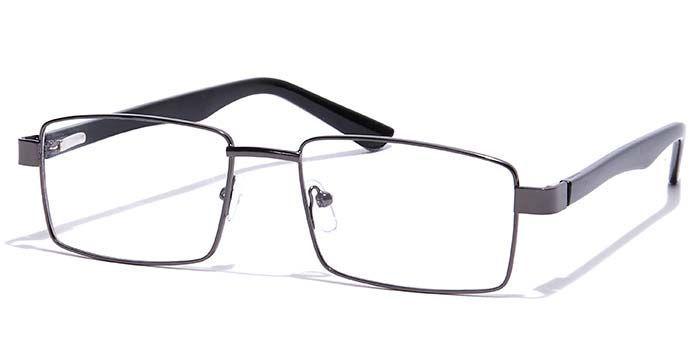 MIRAR by EyeMyEye E13C0757 Glossy Gunmetal Full Frame Rectangle Eyeglasses for Men and Women
