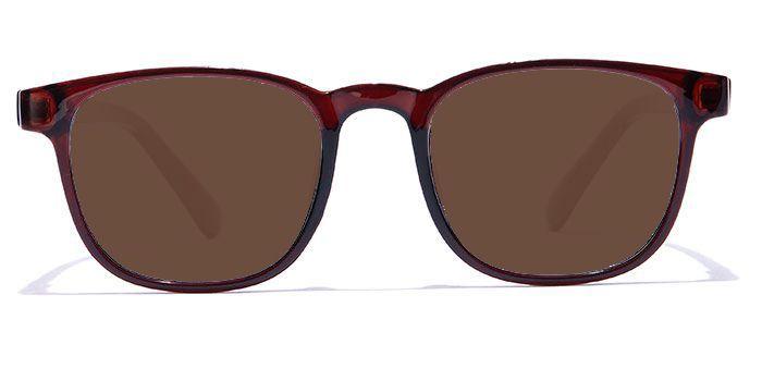 NERDLANE by EyeMyEye E15A2210 Glossy Brown Full Frame RetroSquare Color Blind Glasses