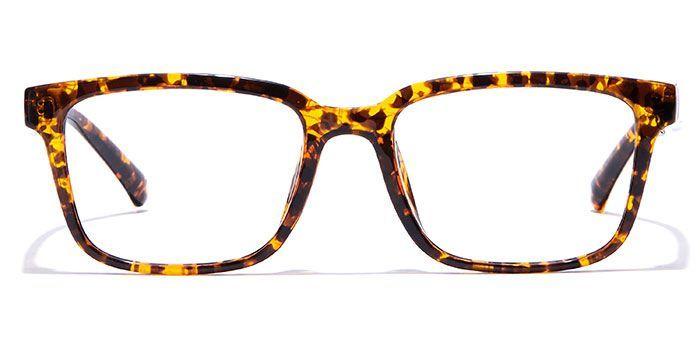 IZIBUKO by EyeMyEye E15B0217 Glossy Tortoise Full Frame Retro Square Eyeglasses for Men and Women