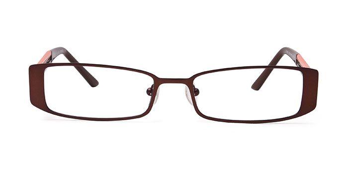 Joe Black E15B2177 Brown Full Frame Rectangle Eyeglasses for Men and Women