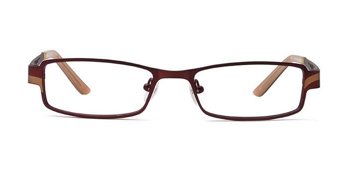 Joe Black E15B2203 Brown Full Frame Rectangle Eyeglasses for Men and Women