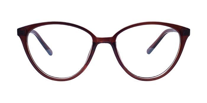 DUKE E15B2487 Brown Cateye Full Frame Eyeglasses for Women