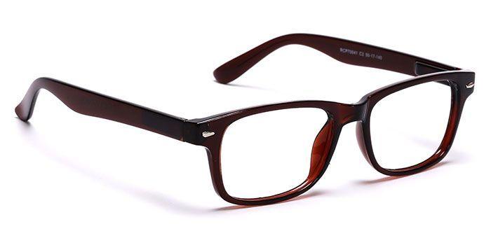 NERDLANE by EyeMyEye E15C1346 Brown Full Frame Rectangle Eyeglasses for Men and Women