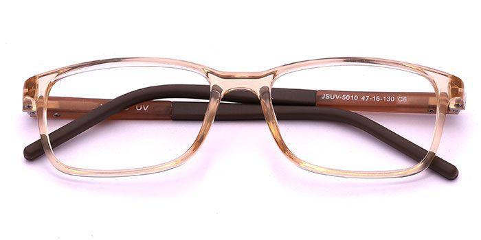 VISTAZO by EyeMyEye E15C1408 Brown Full Frame Color Changing Rectangle Eyeglasses for Kids