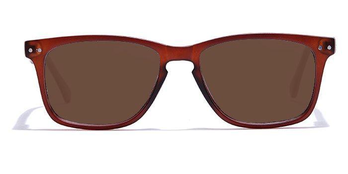NERDLANE by EyeMyEye E15C2215 Matte Brown Full Frame Retro Square Color Blind Glasses