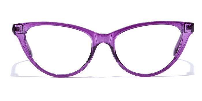IZIBUKO by EyeMyEye E17A0196 Glossy Purple Full Frame Cateye Eyeglasses for Women