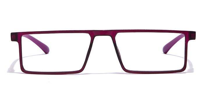 NERDLANE by EyeMyEye E17B0691 Matte Purple Full Frame Rectangle Eyeglasses for Women