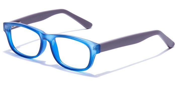 IZIBUKO by EyeMyEye E20B0239 Matte Blue Full Frame Rectangle Eyeglasses for Men and Women