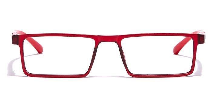 NERDLANE by EyeMyEye E21A0685 Matte Red Full Frame Rectangle Eyeglasses for Men and Women
