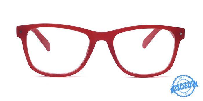 POLAROID Red Full Frame Rectangle Eyeglasses for Men