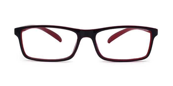 MIRAR by EyeMyEye E21B2753 Red Full Frame Rectangle Eyeglasses for Men and Women