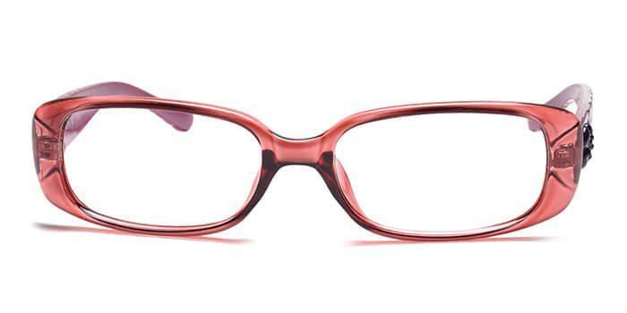 IZIBUKO by EyeMyEye E23C0042 Glossy Pink Full Frame Rectangle Eyeglasses for Women