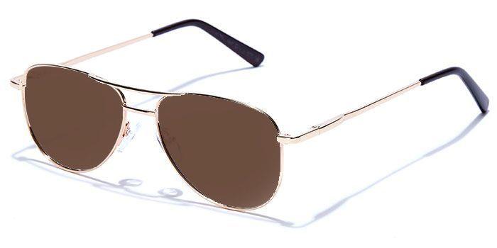 NERDLANE by EyeMyEye E25C2221 Glossy Gold Full Frame Pilot Color Blind Glasses