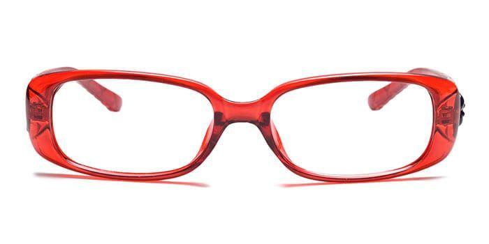 IZIBUKO by EyeMyEye E33B0042 Glossy Wine Full Frame Rectangle Eyeglasses for Men and Women
