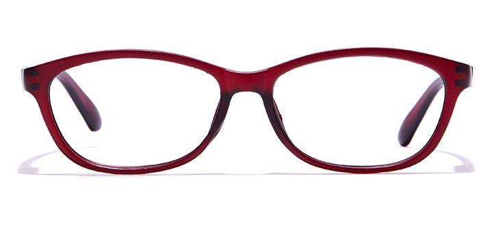 MIRAR by EyeMyEye E33B0280 Matte Wine Full Frame Oval Eyeglasses for Women
