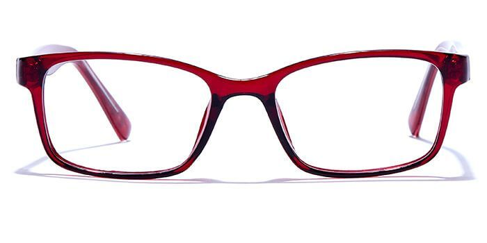 NERDLANE by EyeMyEye E46C0328 Glossy Maroon Full Frame Rectangle Eyeglasses for Men and Women