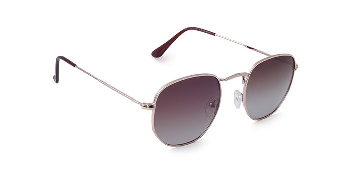 JACK RYAN Polarized Brown Round Sunglasses for Men and Women