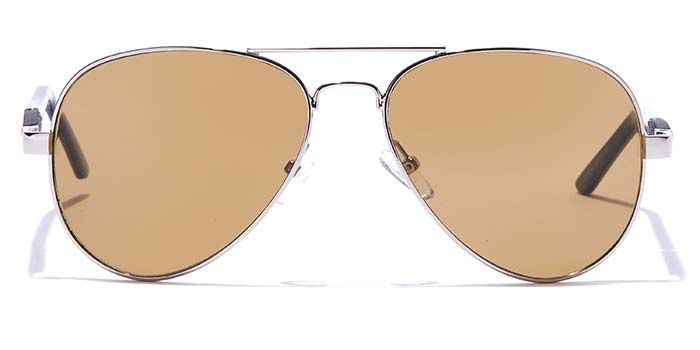 SOIGNEE by EyeMyEye S15B0030 Brown Tinted Pilot Sunglasses for Men and Women