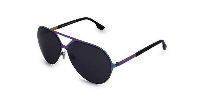 Diesel Grey Tinted Aviator Sunglasses for Men