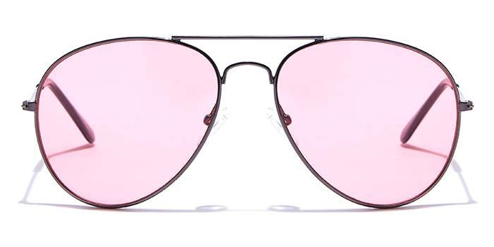 ALF by EyeMyEye S33C0121 Pink Tinted Pilot Sunglasses for Men and Women
