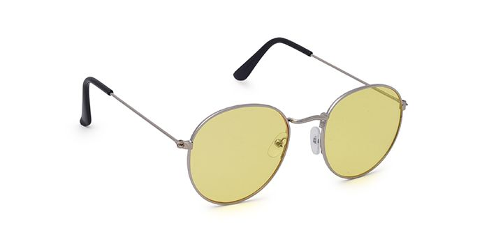 ALF by EyeMyEye S59A1262 Yellow Tinted Round Sunglasses for Men and Women