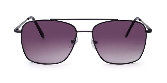 SOIGNEE by EyeMyEye S66A0956 Smoke Tinted Retro Square Sunglasses for Men and Women