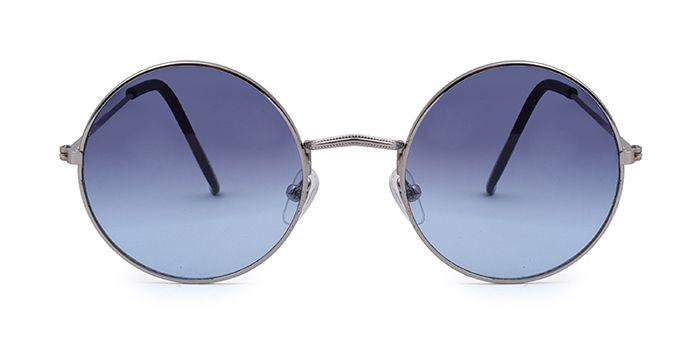 ALF by EyeMyEye S66B1261 Smoke Tinted Round Sunglasses for Men and Women